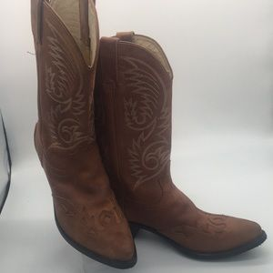 Durango leather cowgirl boot (10.5) (C)